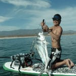 SUP fishing in Baja California