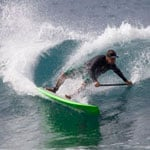 Greg Pavao stand up paddle surfing the C4 Waterman Vector