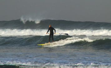 James Davies SUP Surfing Saunton, UK