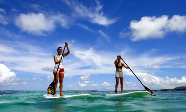Stand up paddle in the caribbean, St Martin