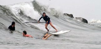 Abi Barker Smith SUP Surfing