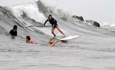 Abi Barker Smith SUP Surfing
