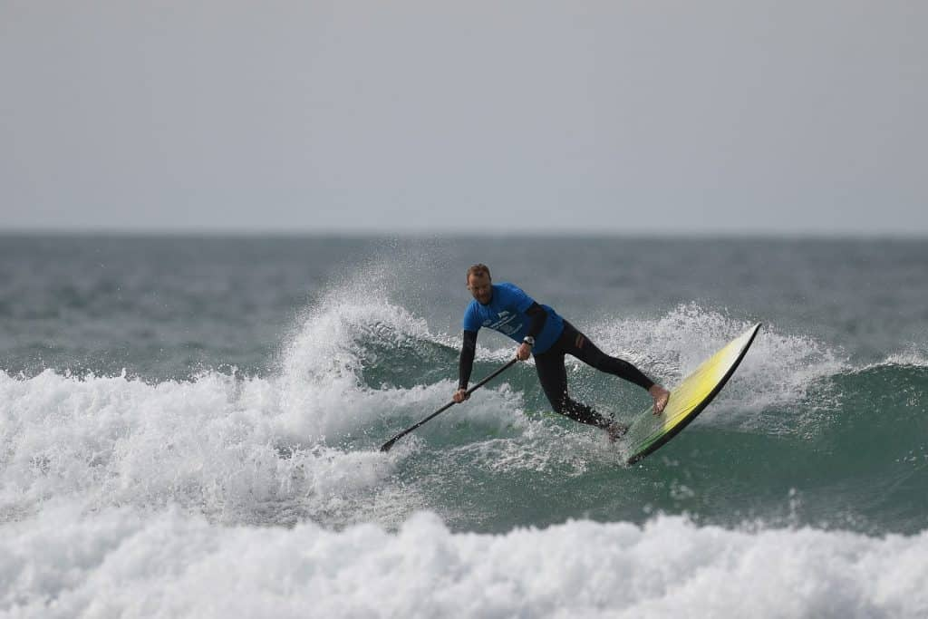 Matt Argyle SUP Surfing Watergate Bay, Cornwall, BSUPA Nationals 2017