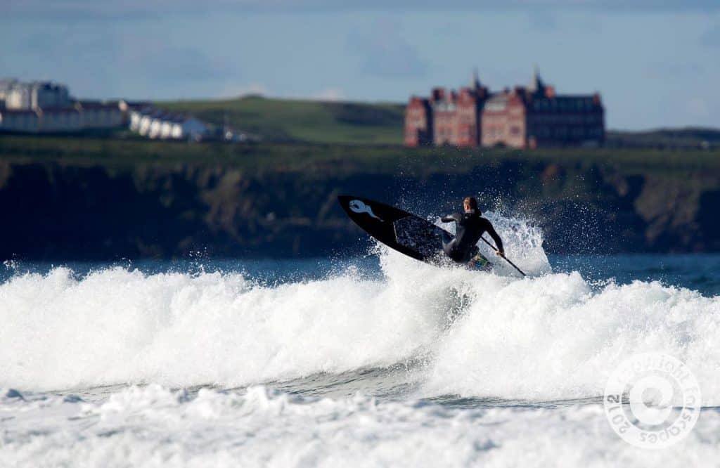 Matt Argyle SUP Surfing Watergate Bay, Cornwall