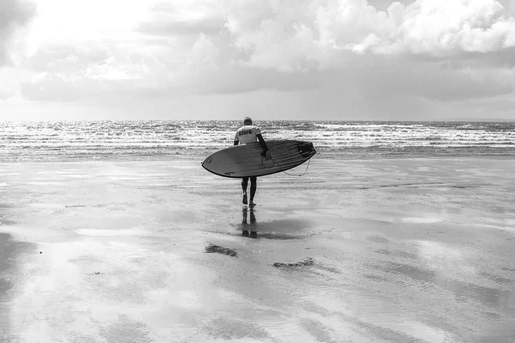 Matt Argyle at Saunton Beach, North Devon