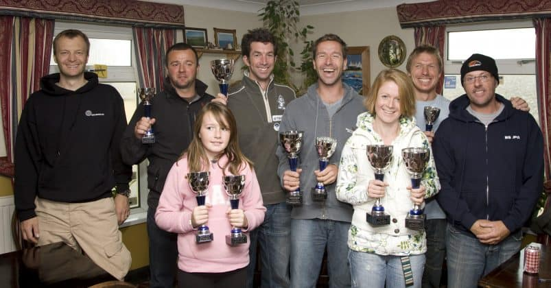 2008 BSUPA SUP Champions, Left to right, Matt Argyle, Scott Gardiner, a young Holly Bassett, John Hibbard, Neal Gent, Claire Blacklock, Mark Slater and Simon Bassett.