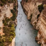 Over 300 competitors will race through the Corinth Canal.