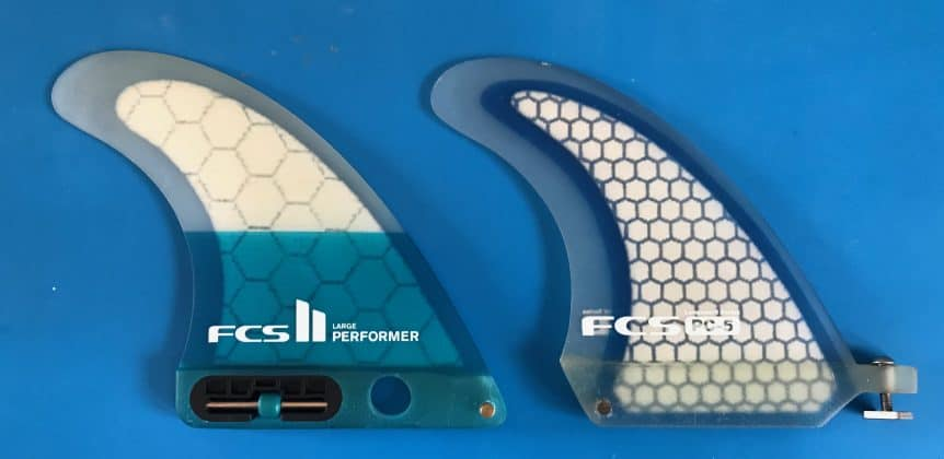 FCS PC5 Centre Fin and FCS Performer Centre Fin