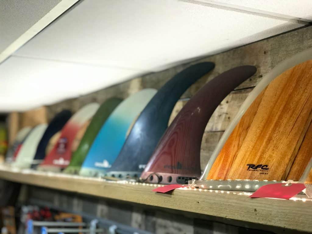 A fine selection of longboard fins.