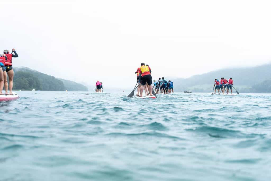 The race in progress
