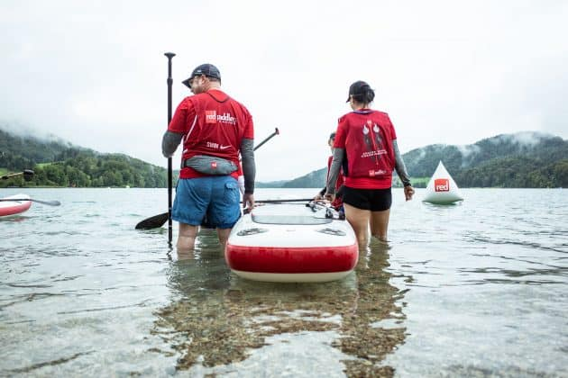 At the start line of the race in Fuschk am See Austria 2018