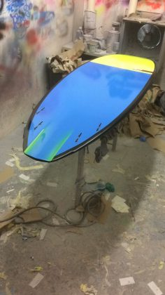 Matt's custom JP Surfboards Quad.