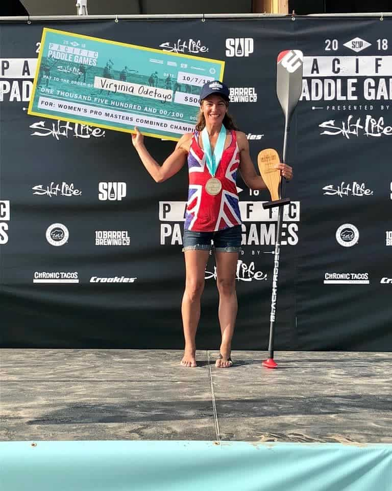 Ginnie Odetayo winning at the Pacific Paddle Games 2018
