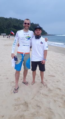 Matt and Aaron waiting for the surf heats
