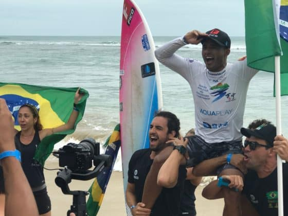Luiz Diniz, world champion SUP surfer from Brazil