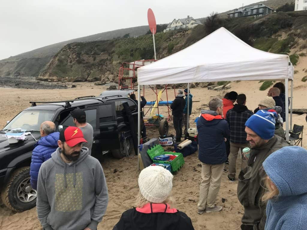 Hotdoggers March 30th surf contest 2019 - checking in.