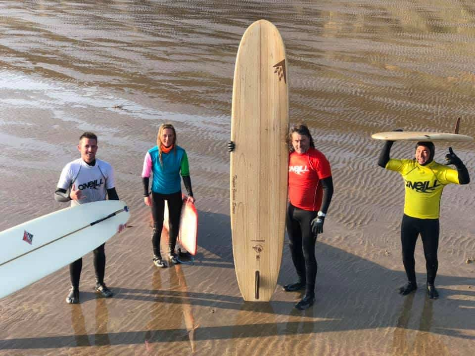 Single Fin Longboard Finalists Ben Haworth, Ben Leighfield, Paul Keenan, MP Aldridge