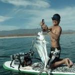 SUP fishing in Baja California