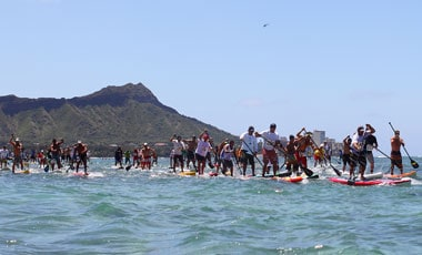 Travis Grant and Candice Appleby win Battle of the Paddle Hawaii