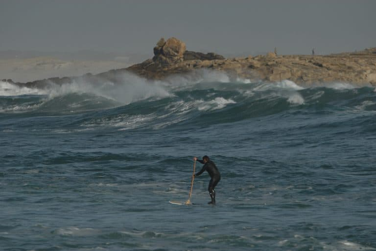 SUP in Finistère, France.