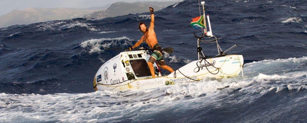 Chris Bertish close to finishing his Atlantic crossing.
