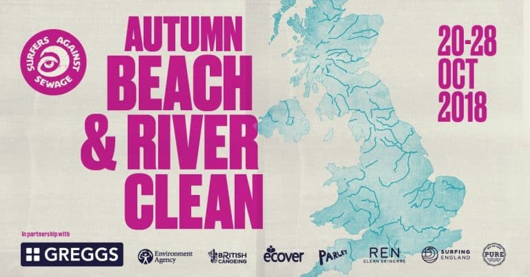 Surfers Against Sewage launches river and beach clean campaign.