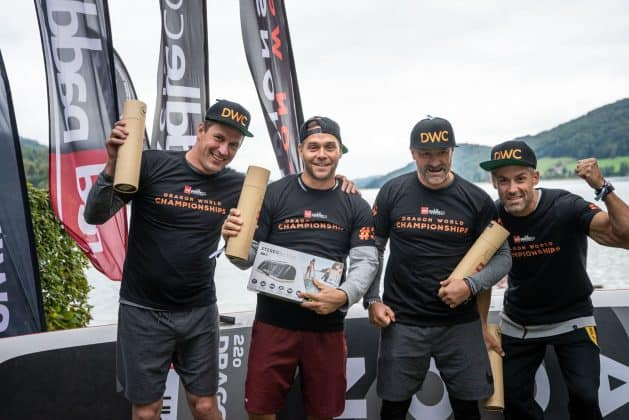 Red Paddle Co Dragon World Championships winners are grinners!
