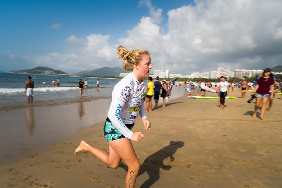 Elle Veale in the team relay