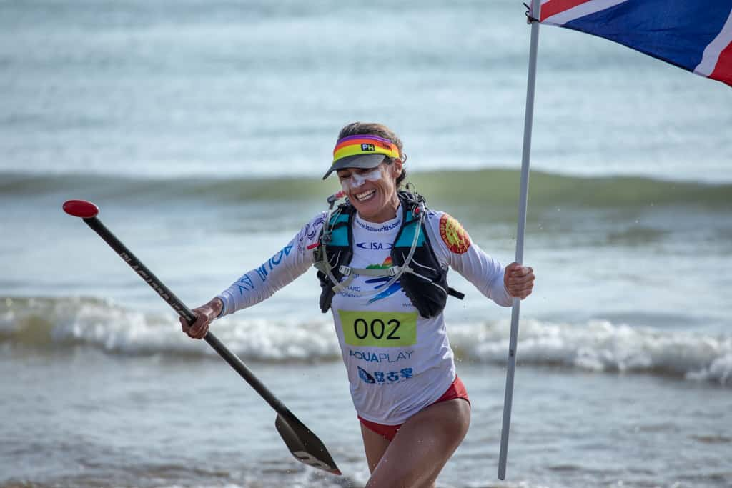 Ginnie across the finish line - 9th in the world!