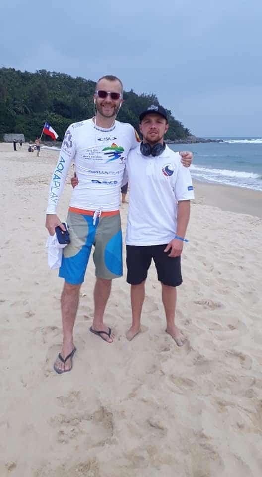 Matt and Aaron waiting for the surf heats