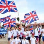 Team GB winning the battle of the flags