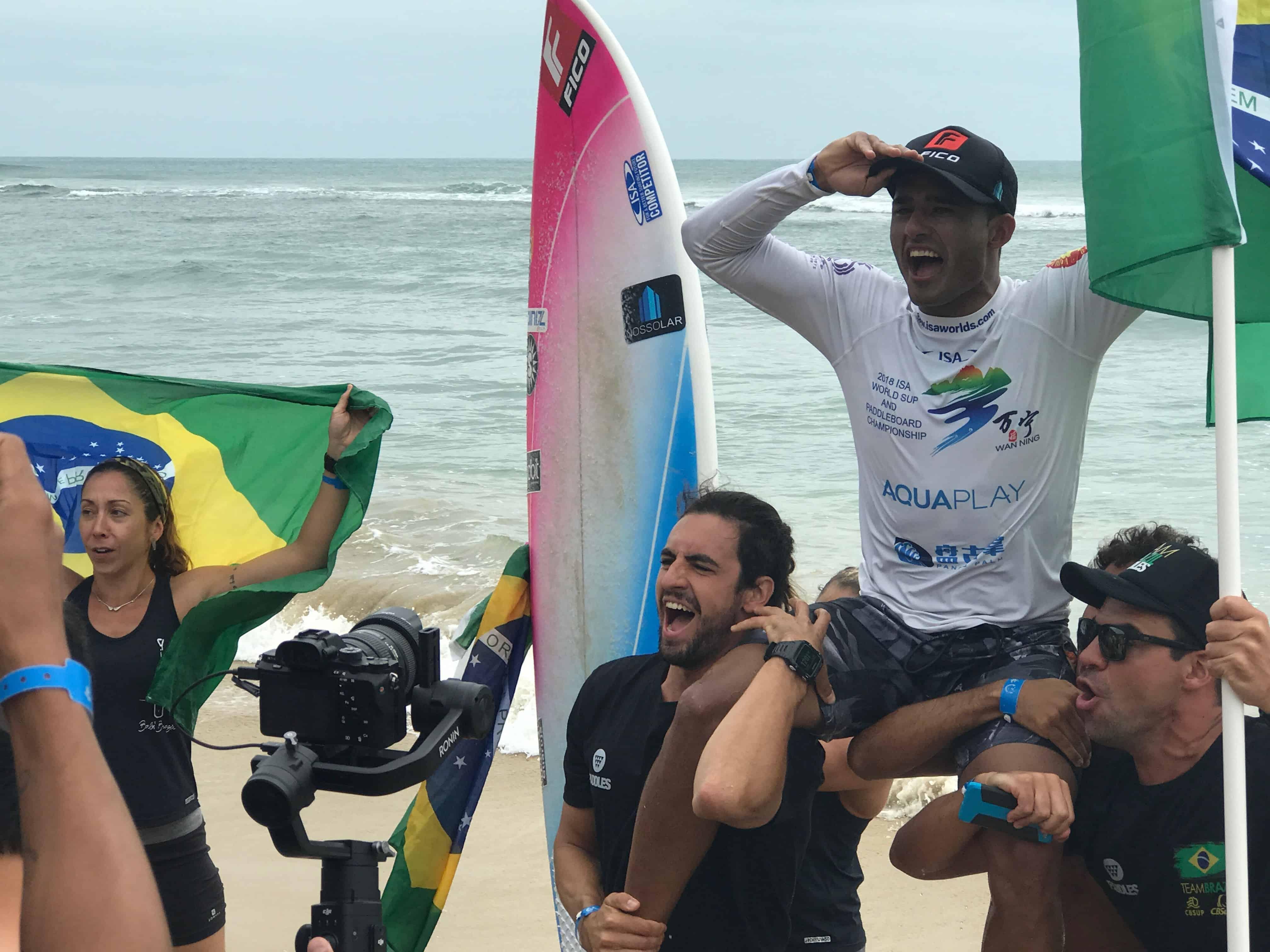 Luiz Diniz, world champion SUP surfer from Brazil