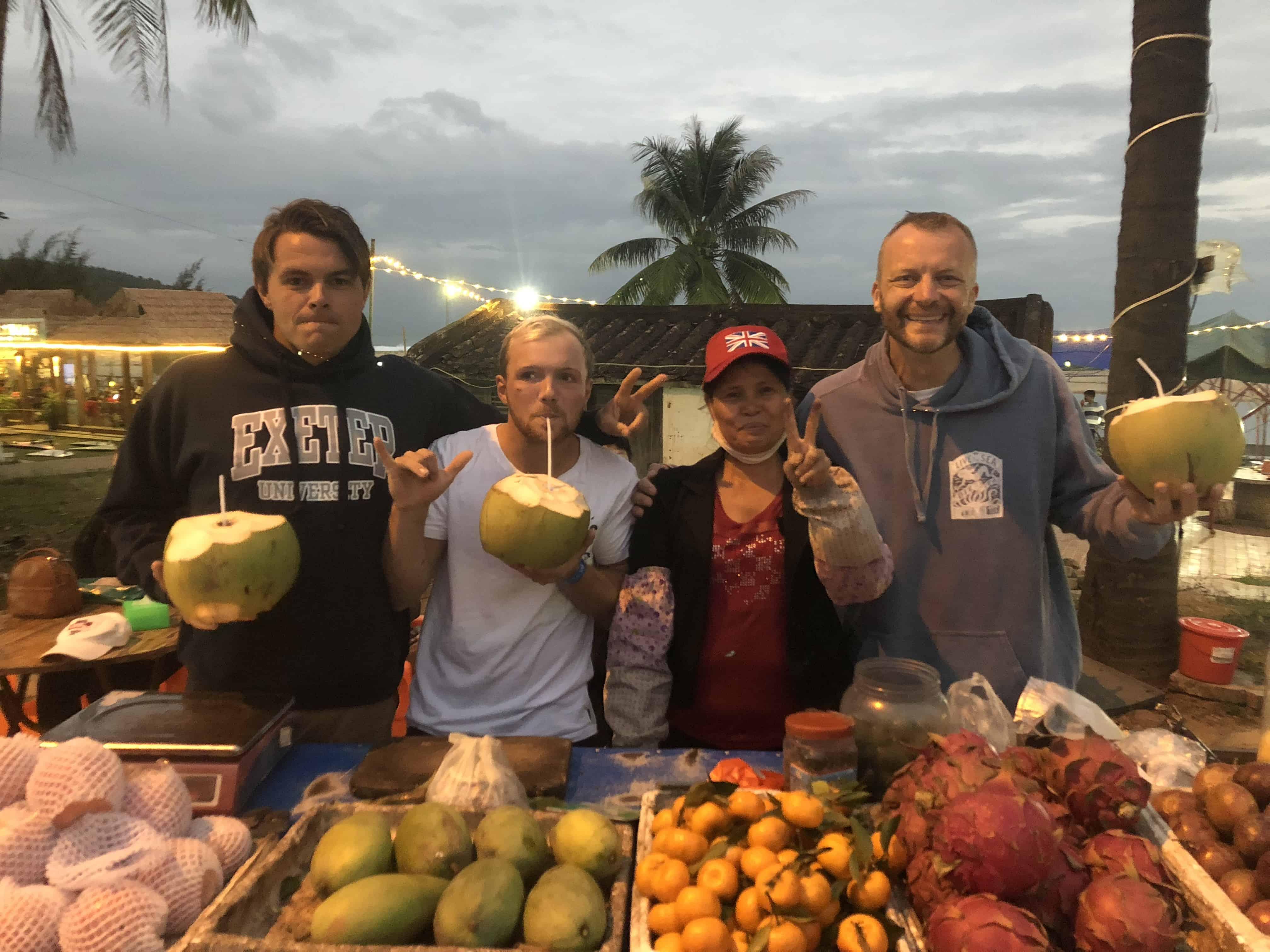 Nick, Aaron, Madam Coconut and Matt