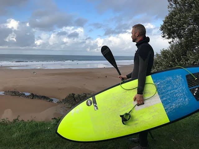 SUP Surfing in Saunton, North Devon. March 2019.